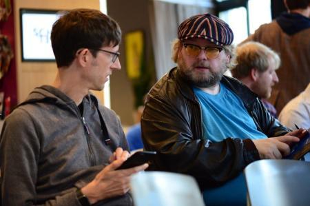 Thomas Gerlach und ich bei der Arbeit. Foto: MS