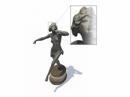 3D-Scan einer Skulptur. Foto: fröbus