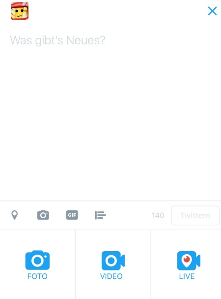 Periskope ist jetzt in der Twitter GUI - hurra