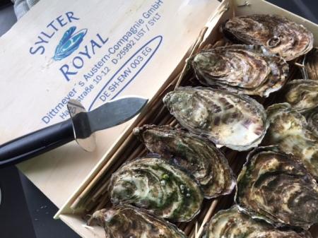 Ich habe dieses Mal die Sylter Royal Austern probiert.