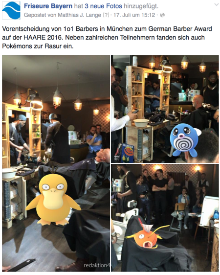 Pokemons im Marketingeinsatz für einen Kunden.