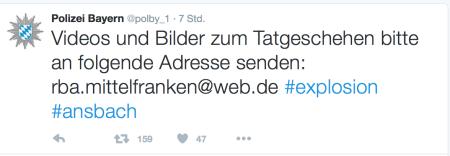 Ich war mir nicht sicher, ob sich dahinter wirklich die bayerische Polizei befindet.