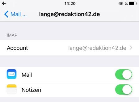 Apple Mail wieder aktivieren