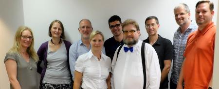 Ein Teil des Vorstands des Bloggerclubs. Ein Teil des Vorstands des Bloggerclubs. Foto: Lohmeyer