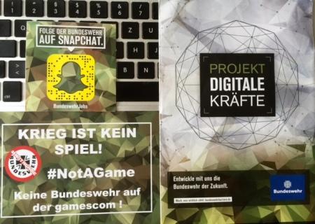 Flyer gegen Flyer auf der gamescom2016