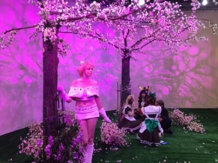 Japanische Kirschblüte - ein beliebtes Motiv für Cosplayer.