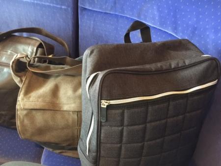 Der Fancyshion Rucksack Citybag vorne im Praxiseinsatz.