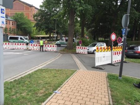 Die Polizei war verstärkt vor Ort. Vielen Dank dafür.