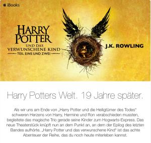 Harry Potter und das iBook von Apple.