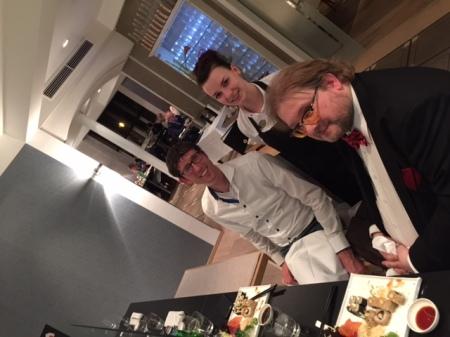 Hier bei der Arbeit als Blogger mit Foodblogger Thomas Gerlach. Wir sind im Gespräch mit Sushi-Expertin Jasmin Voit in der Goldenen Traube in Coburg.