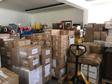 Das Lager der Togohilfe Maisach wird morgen nach Togo verschifft.