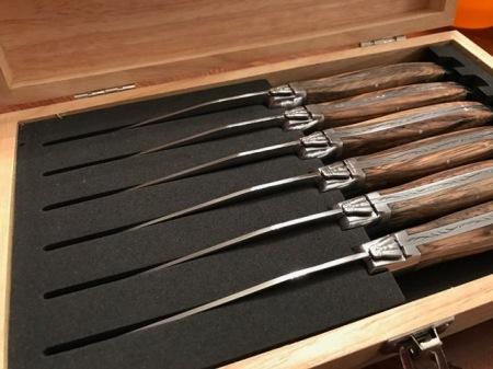 Für mich die schönsten Stellmesser überhaupt: Laguiole Messer.
