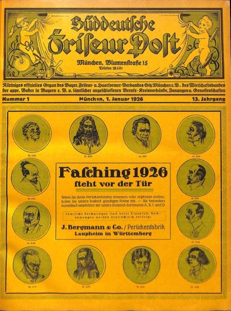 Hier der erste Testscan meiner Friseurzeitung aus dem Jahre 1926.