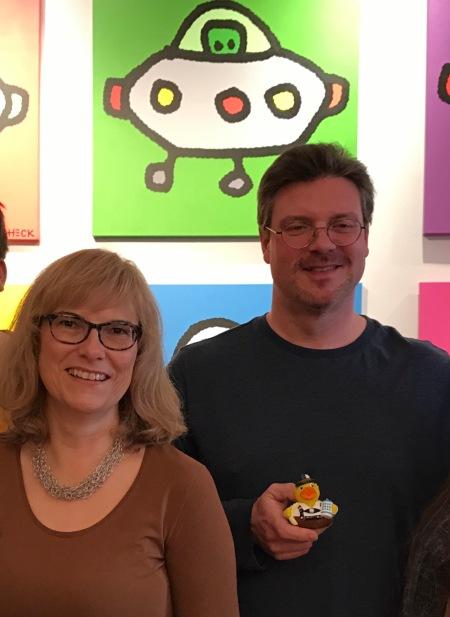 Ed Heck mit (meiner) Ehefrau und Ente.