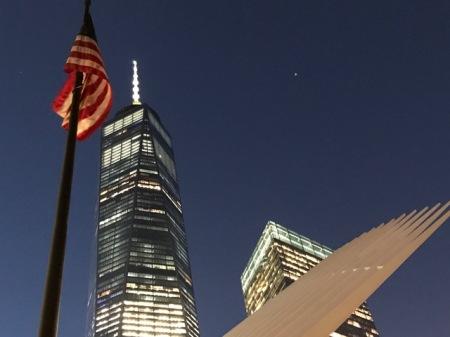 Das One World Trade Center ist das höchste Gebäude der Stadt.