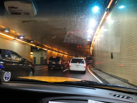 Taxifahren mit E-ZPass - eine Form von Mautkarte.