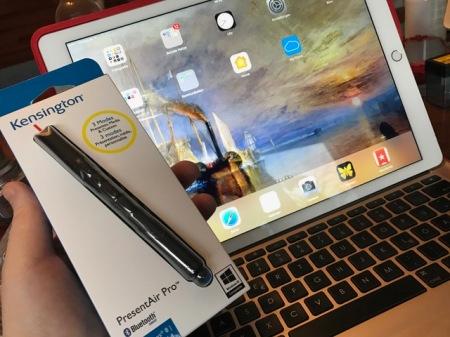 Für meine Präsentationen habe ich mir für iOS den Kensington PresentAir Pro gekauft.