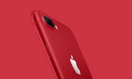 Ich finde, das iPhone 7 das Product Red sieht hammerstark aus.  Foto: Apple
