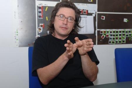 Michael Coldewey im Jahre 2009 bei einem Interview mit mir. Damals war Hollywood ein Traum.