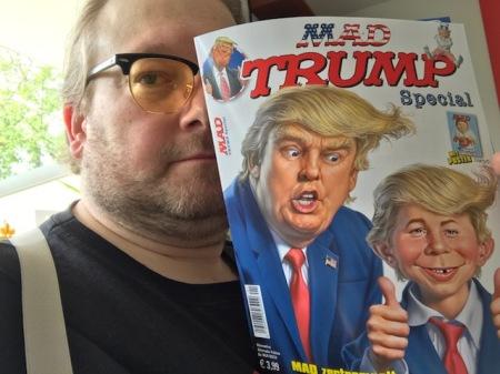 Ich habe das neue MAD Sonderheft zu Trump vom Verlag erhalten und gelesen. Humor ist die richtige Antwort.