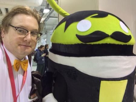 Ein eher seltenes Bild: Android und ich
