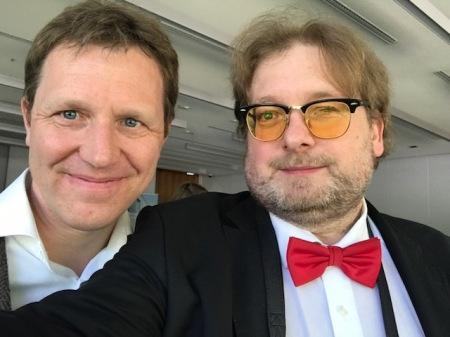 Stephan Goldmann und ich sprachen vor Mitgliedern der deutschen Presseclubs.