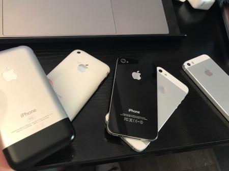 10 Jahre iPhone - hier einige meiner Geräte.