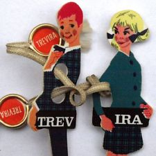So sah das Figurenduo Trev und Ira zur Einführung von Trevirasamt aus.