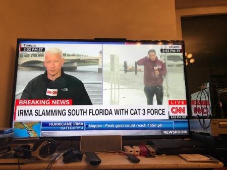 CNN-Berichterstattung zum Hurrikan.