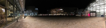 Das Gelände vor dem Restaurant Avis bei Audi in Ingolstadt.