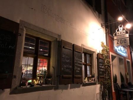 Das Restaurant Zoe in Weiden in der Altstadt.