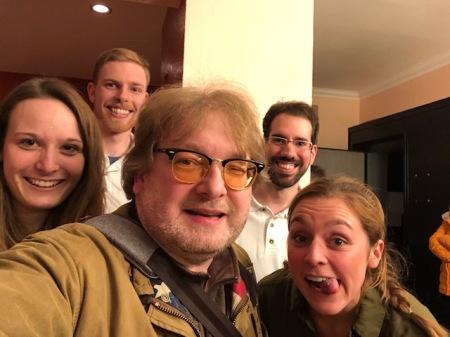 Selfie mit dem Filmteam.