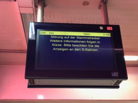 Nix geht mehr bei der S-Bahn München.
