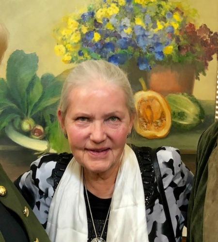 Die Witwe von Helmut Sacher war bei der Vernissage anwesend.