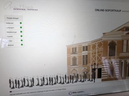 Ganz links ist der Ladebalken um 14:09 Uhr. Das kann dauern und die animierten Figuren sind auch nicht mehr da.