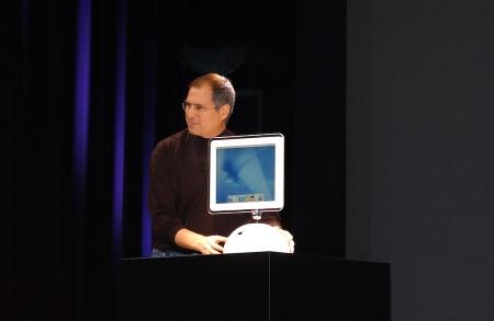 2002 präsentierte Steve Jobs den Sonnenblumen iMac.