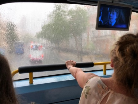 Theoretisch ein guter Blick, praktisch nicht - es regnet in London.