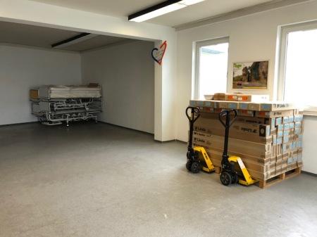 Am Ende des Tages war das Togohaus wieder leer und freut sich auf neue Spenden. Im August geht der nächste Container.