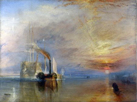The Fighting Temeraire tugged to her last Berth to be broke