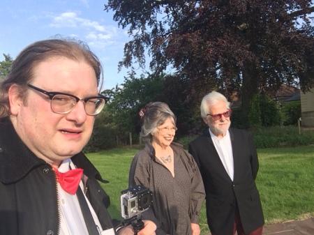 Christiane Kubrick, Jan Harlan und ich. Foto: Lange