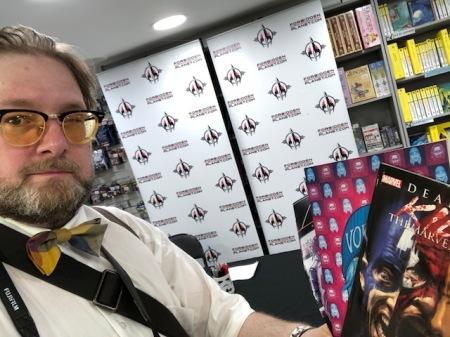 Treffen in London mit Comic-Stars. Hier meine Ausbeute.