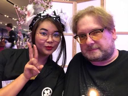 Maid und ich - ich hab mich prima im Maid Cafe auf der AnimagiC unterhalten.