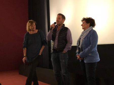 Grüner wird's nicht - samt Filmgespräch mit Regisseur Florian Gallenberger und Darstellerin Monika Baumgartner (r) sowie Marketingsdame Andrea Hailer (l.)