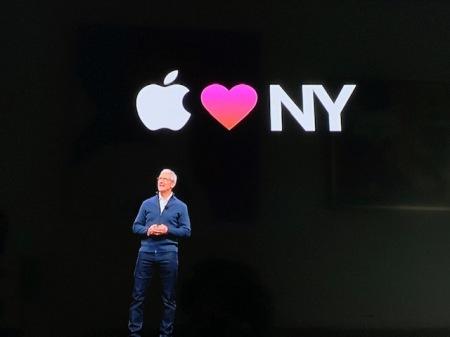 Endlich mal wieder eine Apple Keynote in New York.