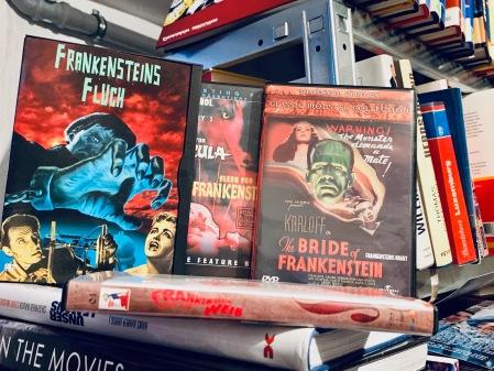 Auswahl an Frankenstein Verfilmungen.
