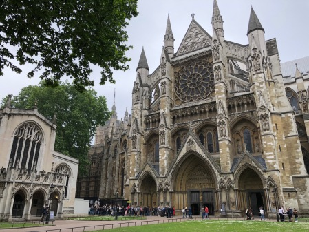 Die Westminster Abbey in London.
