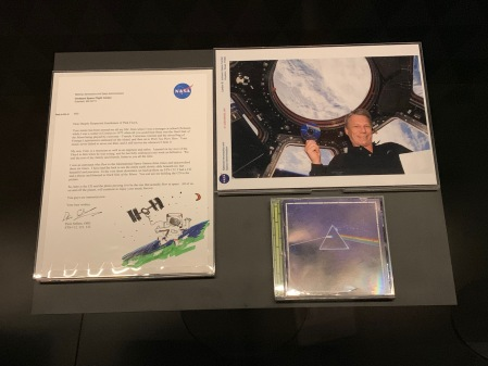 Dankschreiben der NASA für Dark Side of the Moon.