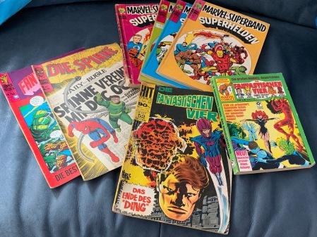 Hier ein Teil meiner Marvel Comics.