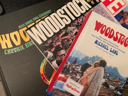 Viel Literatur zu Woodstock