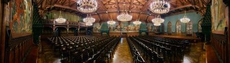 Sehr eindrucksvoll, der Landshuter Prunksaal mit der Geschichte der Landshuter Hochzeit.